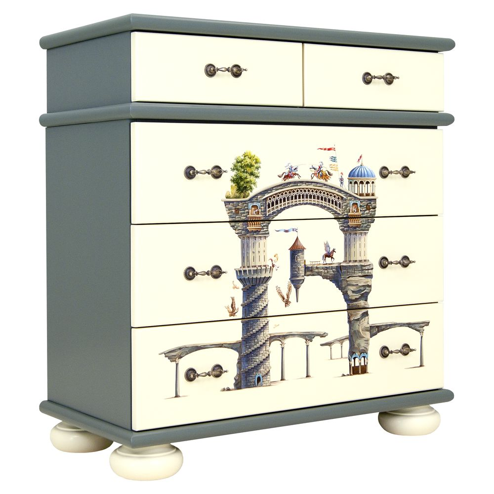Kids Grey Chest of Drawers | Children's Chests of Drawers | Albion Collection | Woodright Home UK