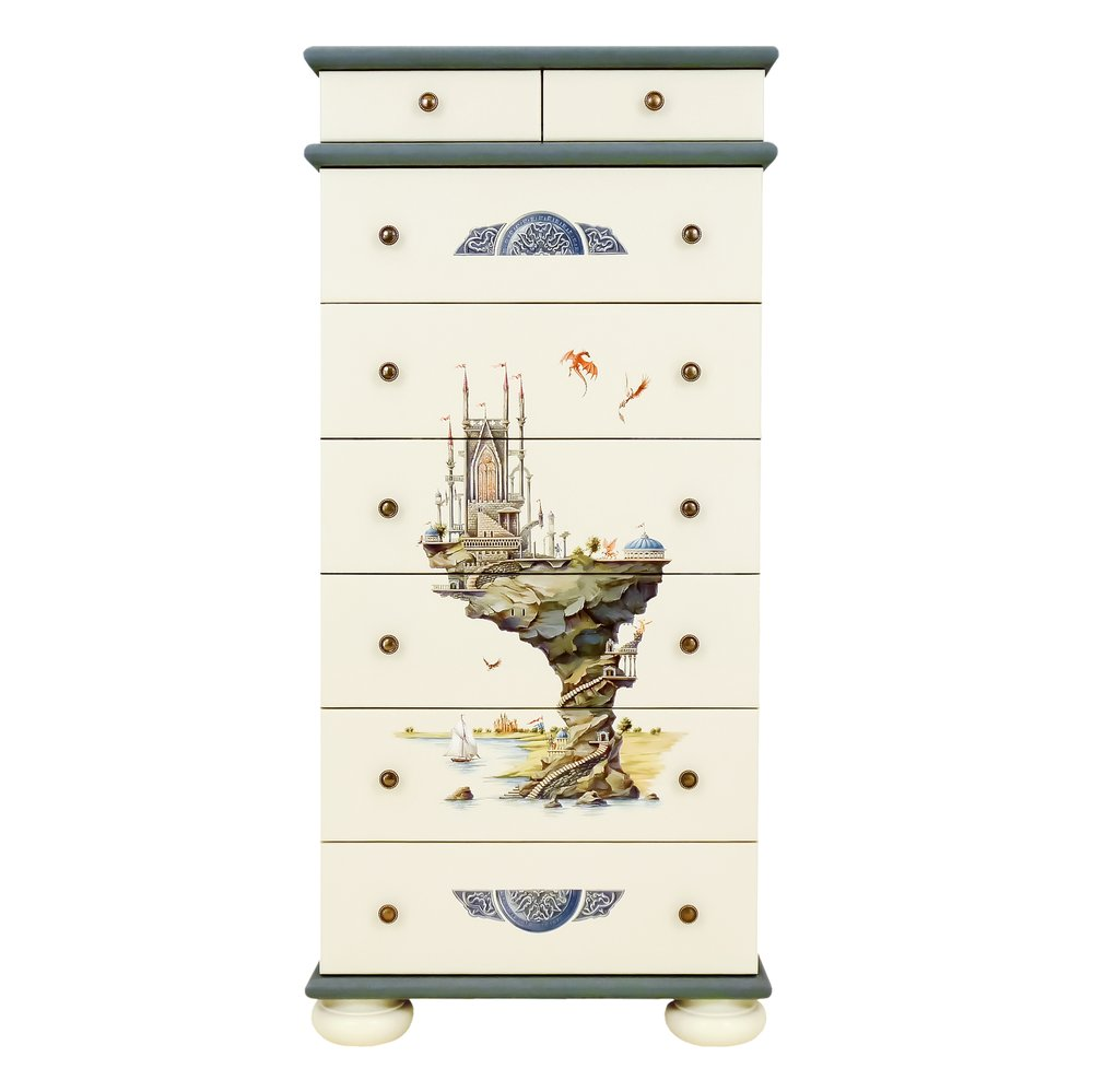 Grey Tall Chest of Drawers | Children's Chests of Drawers | Albion Collection | Woodright Home UK
