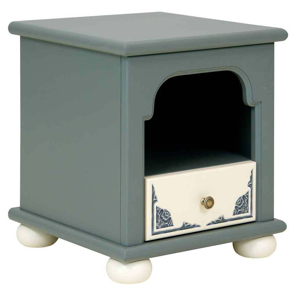 Children's Grey Bedside Table | Children's Storage | Albion Collection | Woodright Home UK