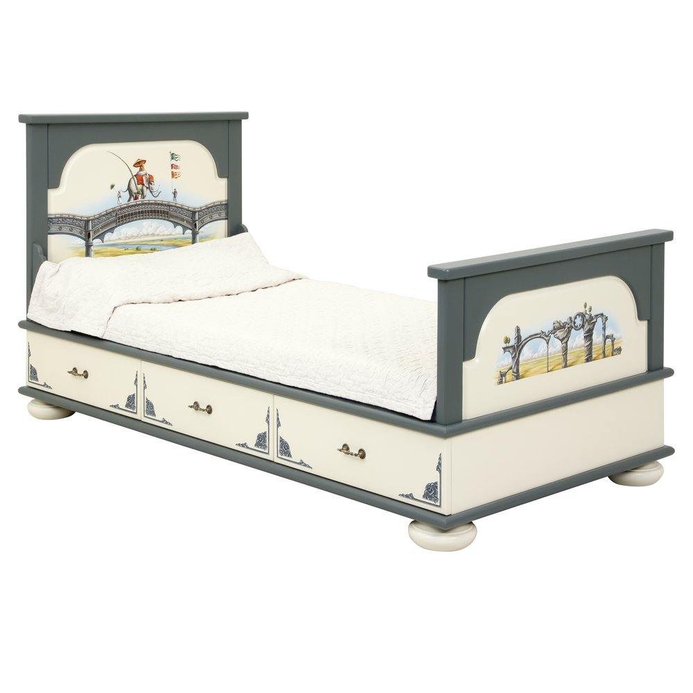 Kids Grey Single Bed with Drawers | Children's Beds | Albion Collection | Woodright Home UK