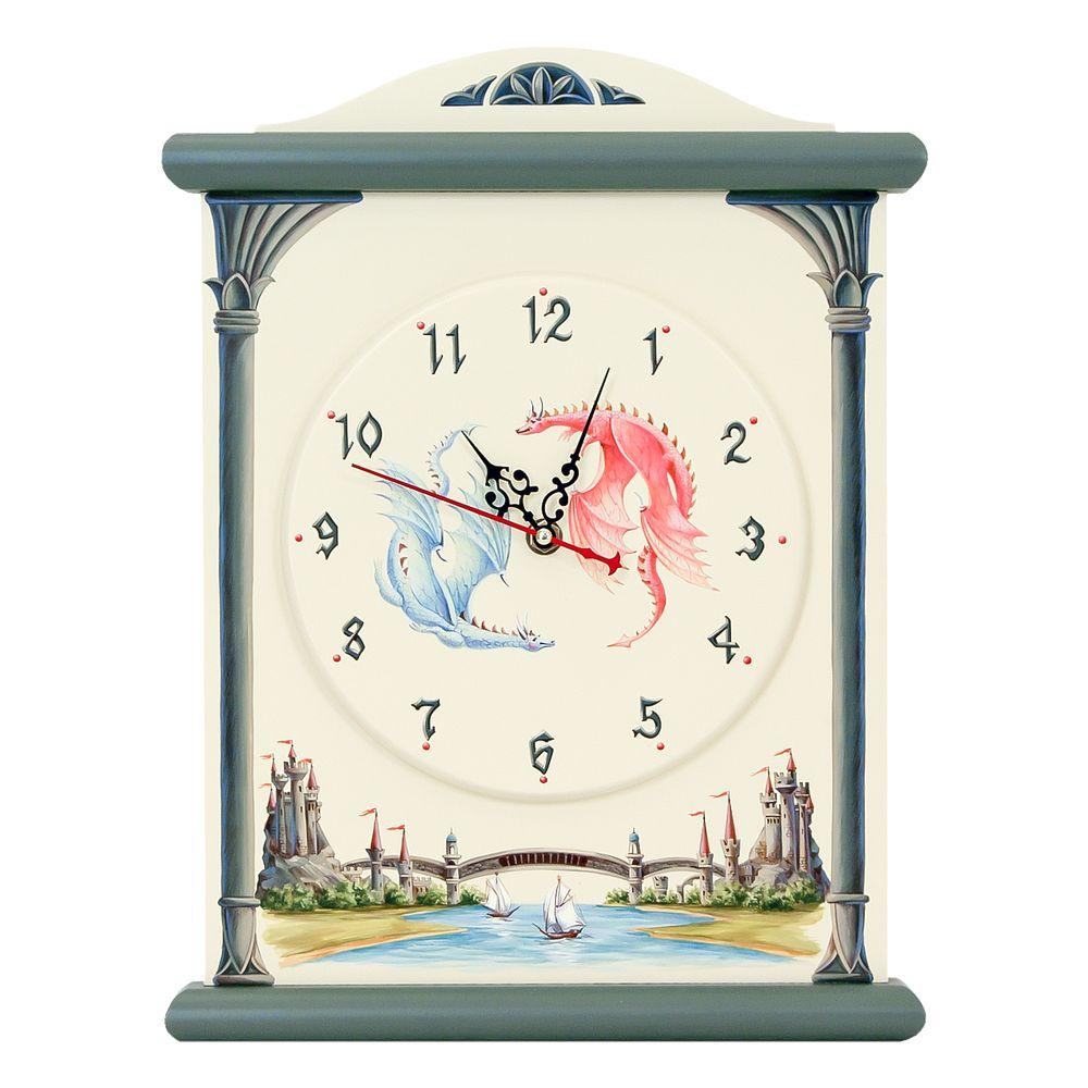 Children's Grey Silent Wall Clock | Wall Clocks | Albion Collection | Woodright Home UK