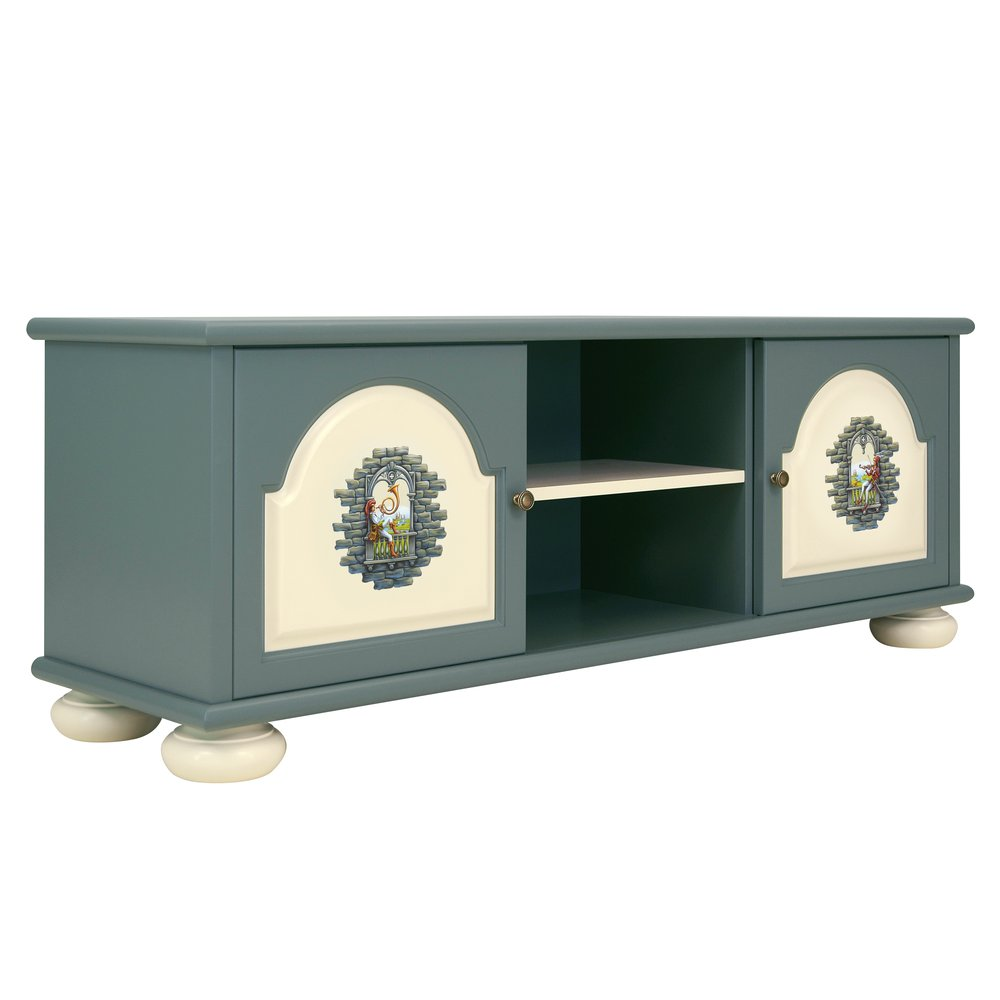 Children's Grey TV Stand | Children's Storage | Albion Collection | Woodright Home UK