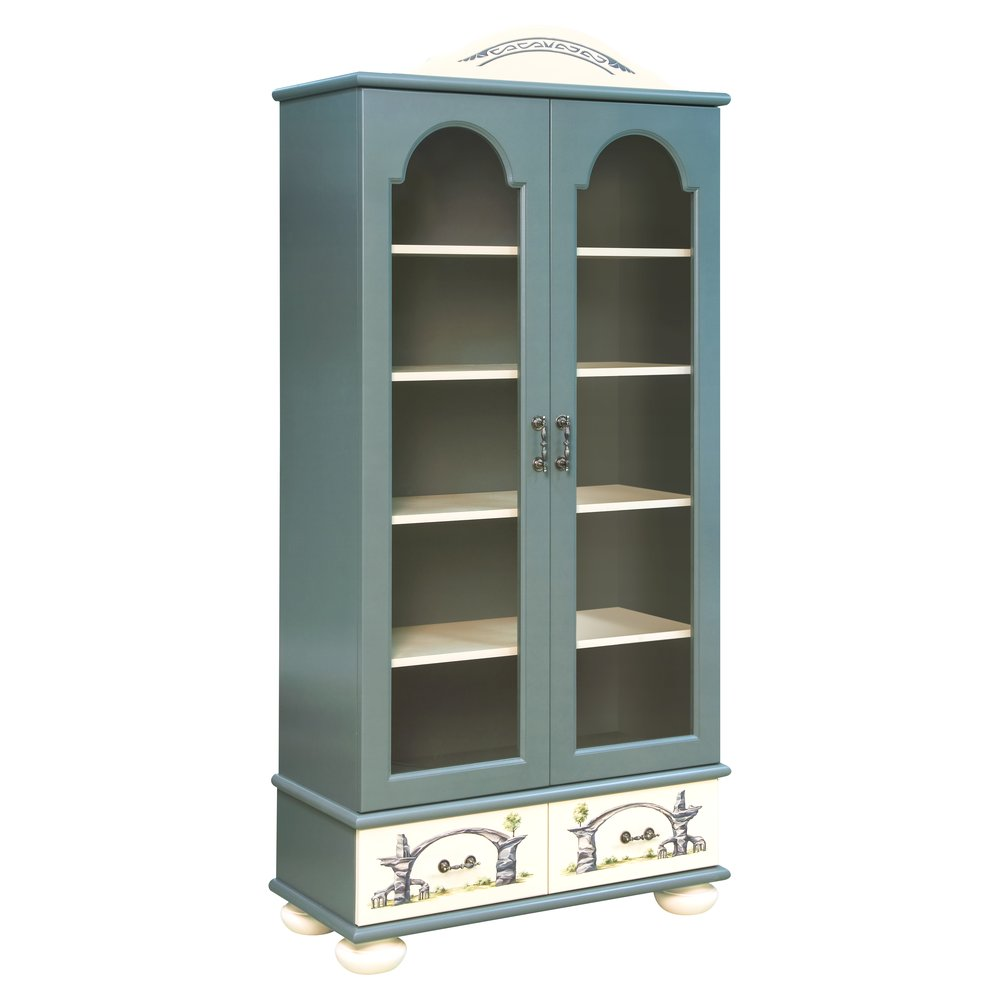 Children's Grey Glazed Bookcase | Children's Storage | Albion Collection | Woodright Home UK
