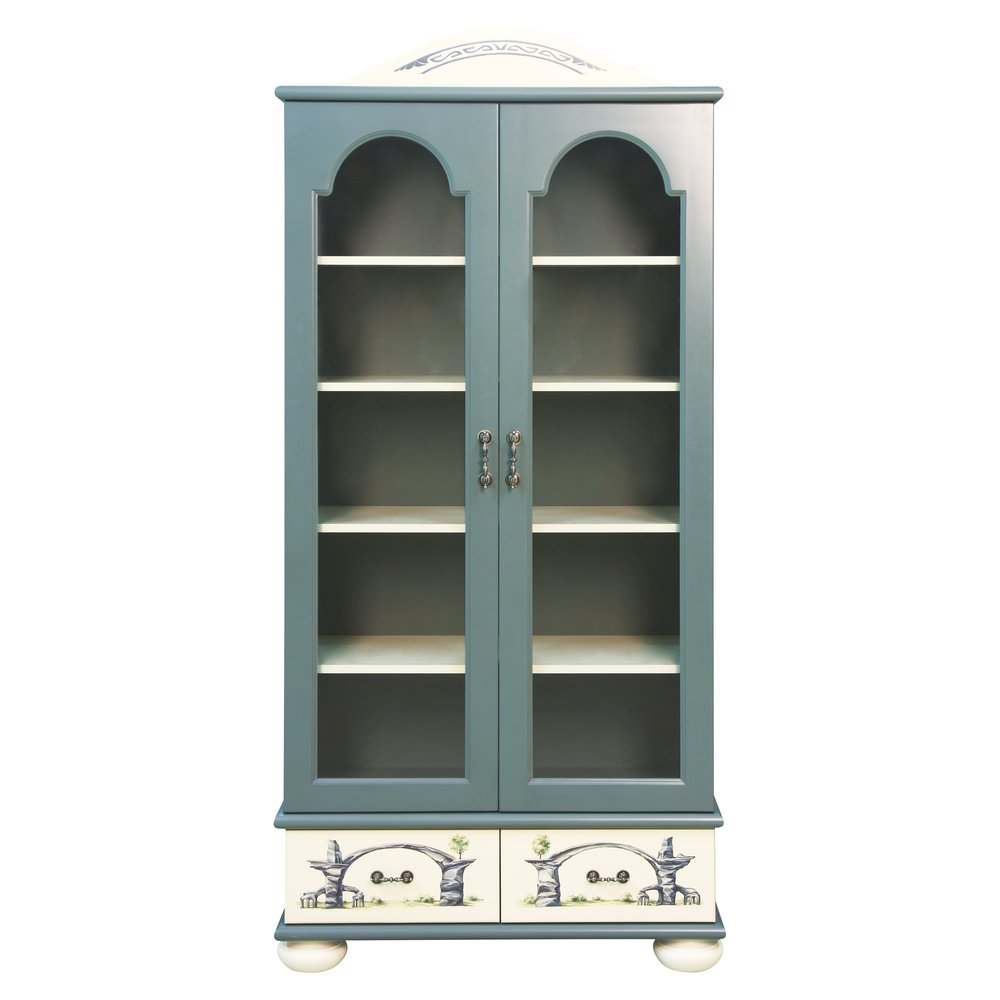 Children's Grey Glazed Bookcase | Children's Storage | Albion Collection | Woodright Home UK