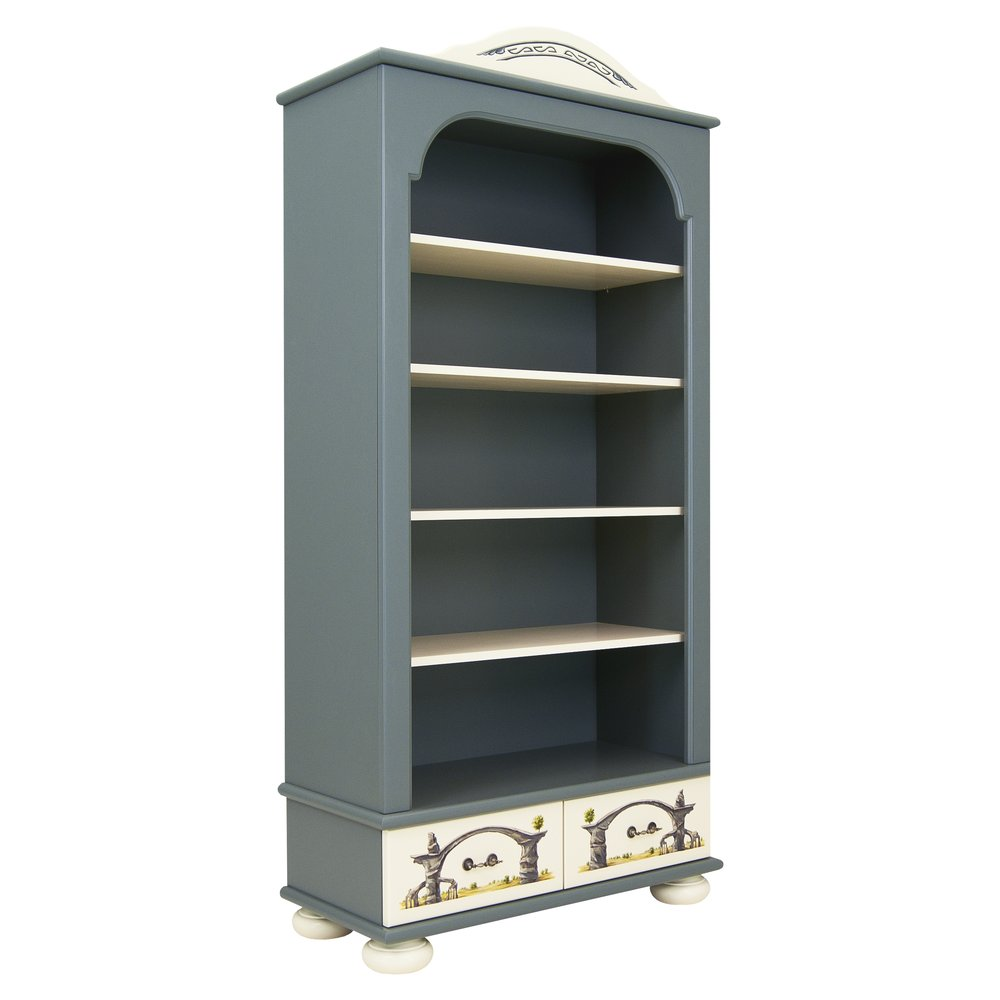 Grey Bookcase with Drawers | Children's Storage | Albion Collection | Woodright Home UK