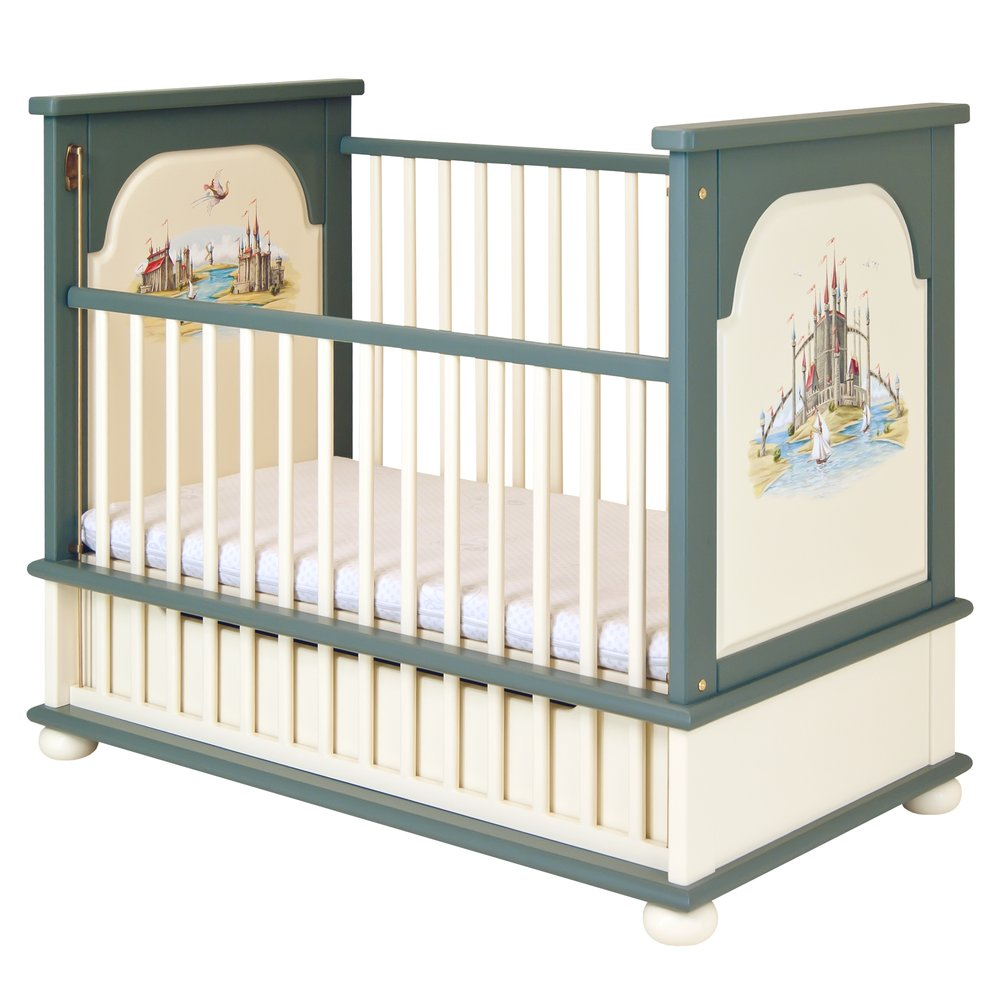 Grey Cot Bed | Nursery Furniture | Albion Collection | Woodright Home UK