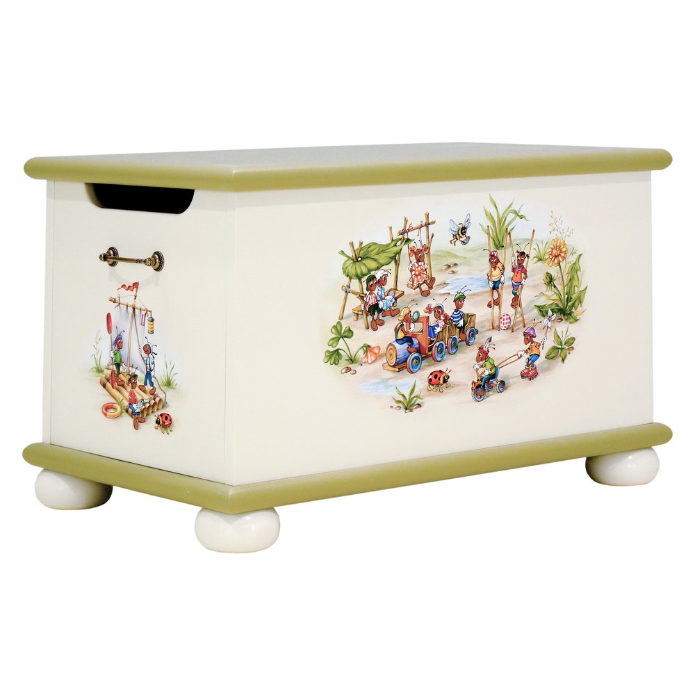 Green Toy Box | Toy Boxes | Ants' Village Collection | Woodright Home UK