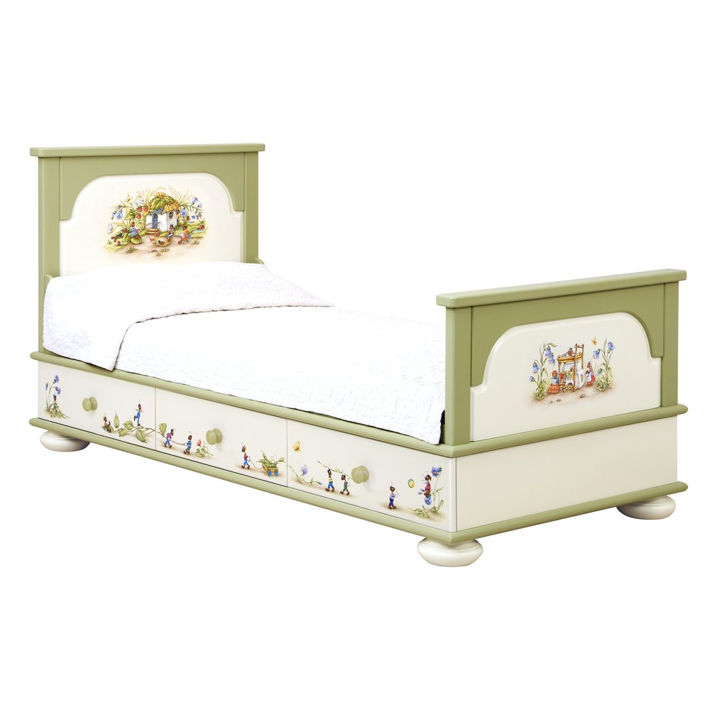 Green Single Bed with Drawers | Children's Beds | Ants' Village Collection | Woodright Home UK
