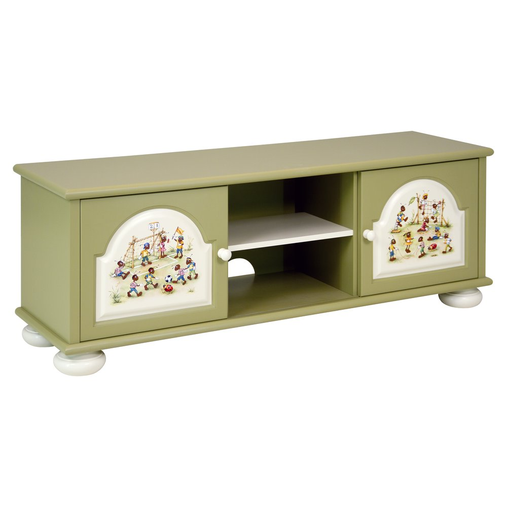 Green Children's TV Stand | Children's Storage | Ants' Village Collection | Woodright Home UK