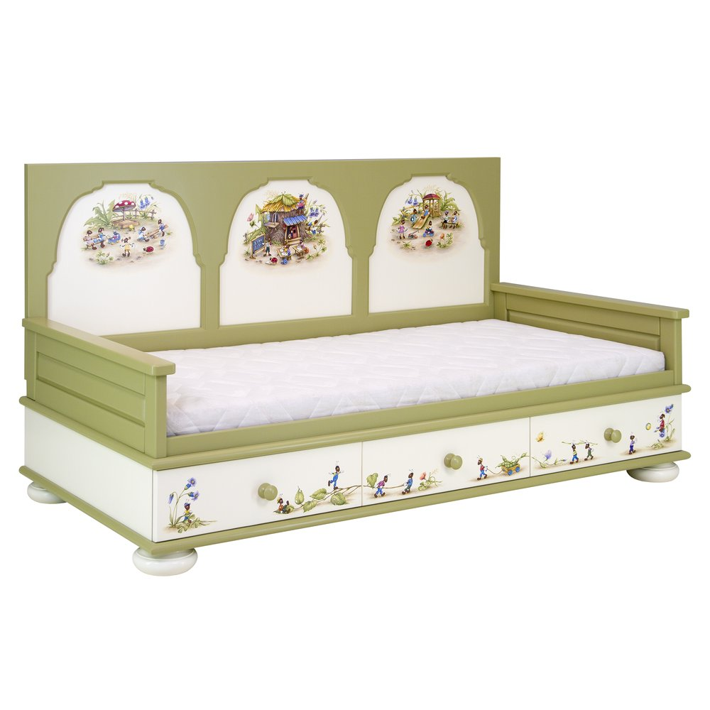 Green Children's Day Bed | Children's Beds | Ants' Village Collection | Woodright Home UK