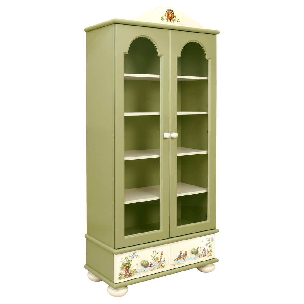 Green Children's Glazed Bookcase | Children's Storage | Ants' Village Collection | Woodright Home UK
