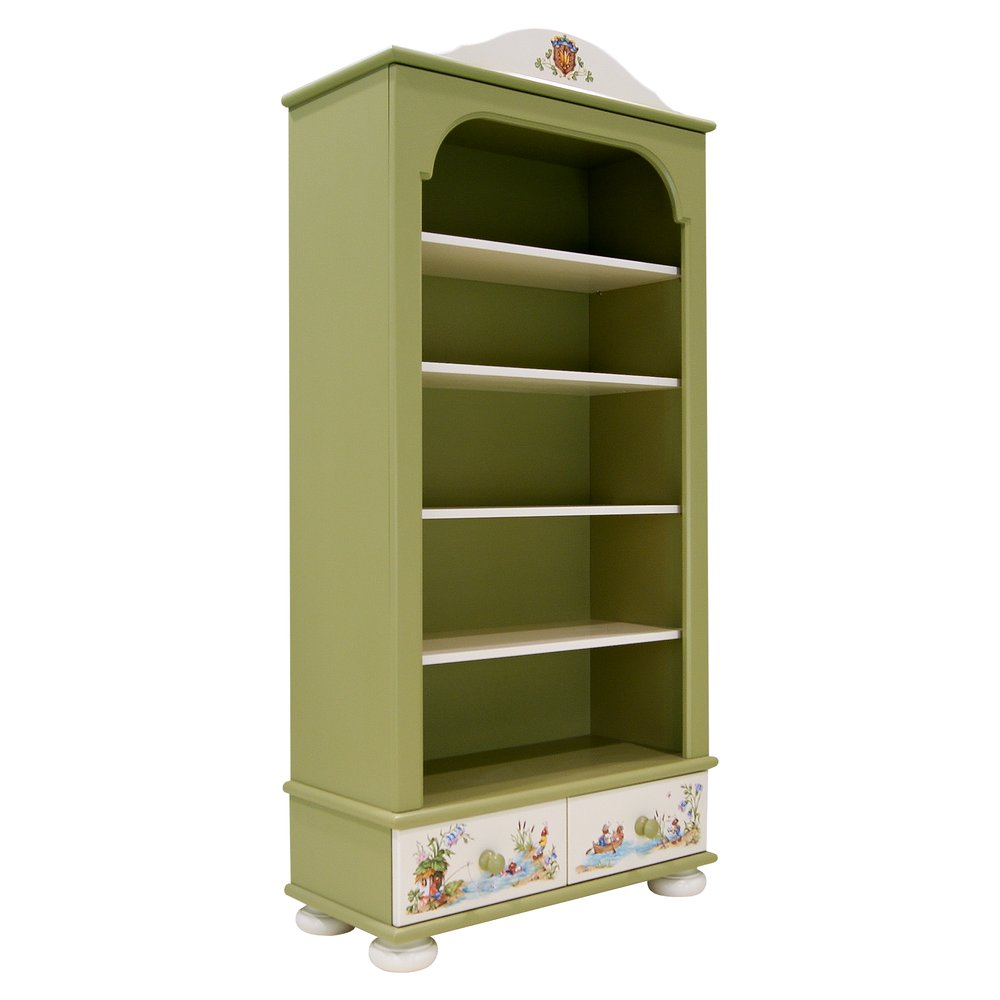 Green Children's Bookcase with Drawers | Children's Storage | Ants' Village Collection | Woodright Home UK