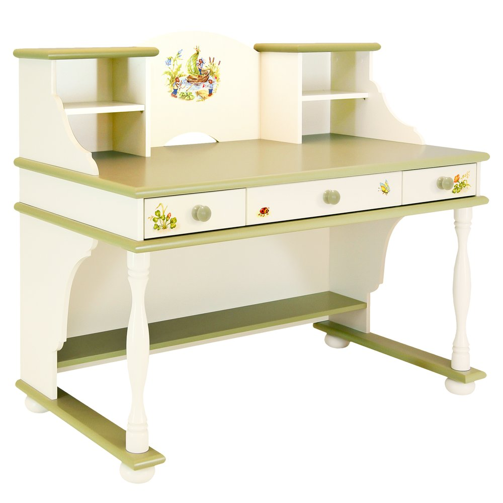 Kids Green Writing Table with Top | Children's Tables & Chairs | Ants' Village Collection | Woodright Home UK