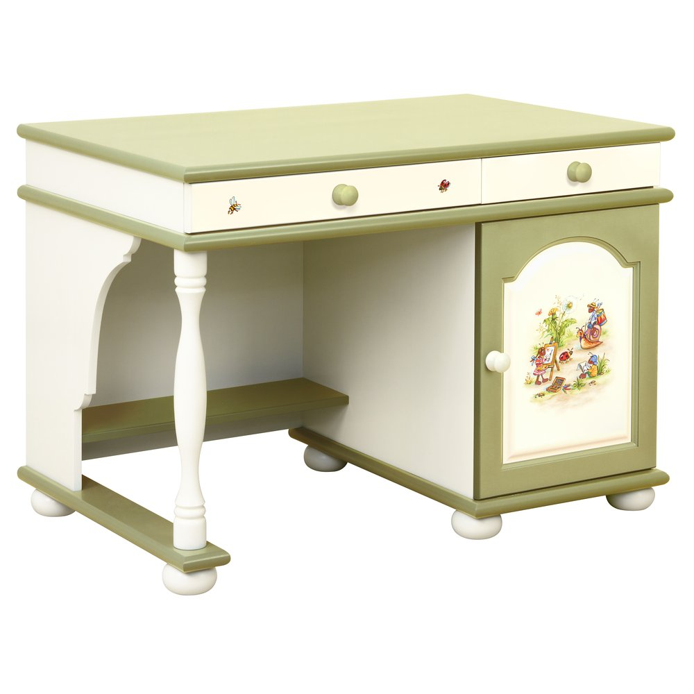 Green Children's Small Desk | Children's Tables & Chairs | Ants' Village Collection | Woodright Home UK