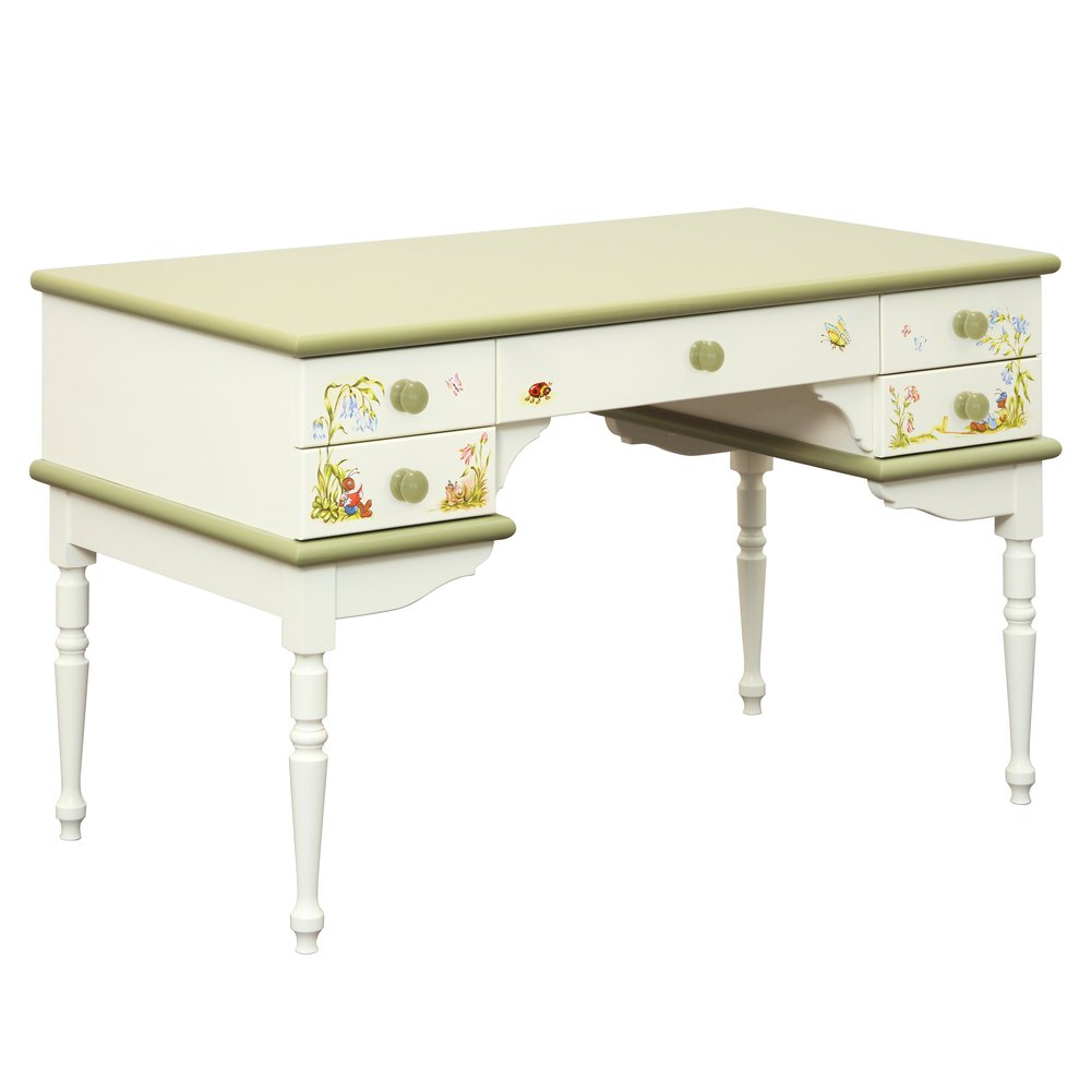 Green Children's Writing Table | Children's Tables & Chairs | Ants' Village Collection | Woodright Home UK