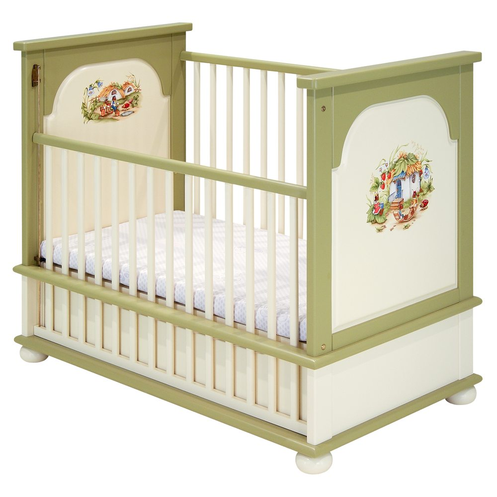 Green Cot Bed | Nursery Furniture | Ants' Village Collection | Woodright Home UK