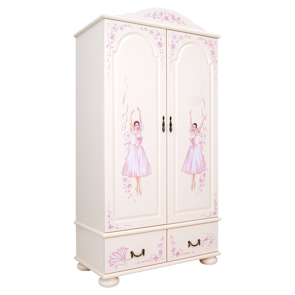 Girl's Light Pink Wardrobe | Children's Wardrobes | Ballet Collection | Woodright Home UK