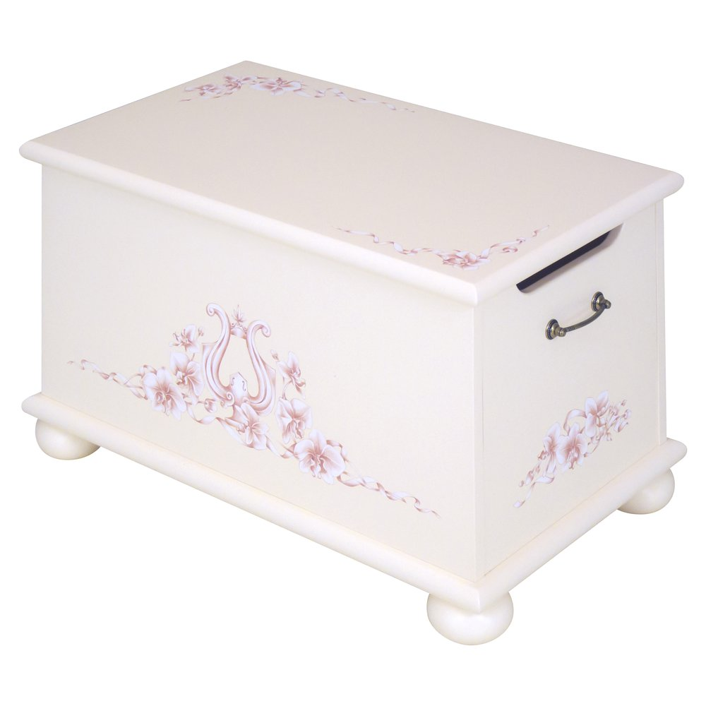Light Pink Toy Box | Toy Boxes | Ballet Collection | Woodright Home UK