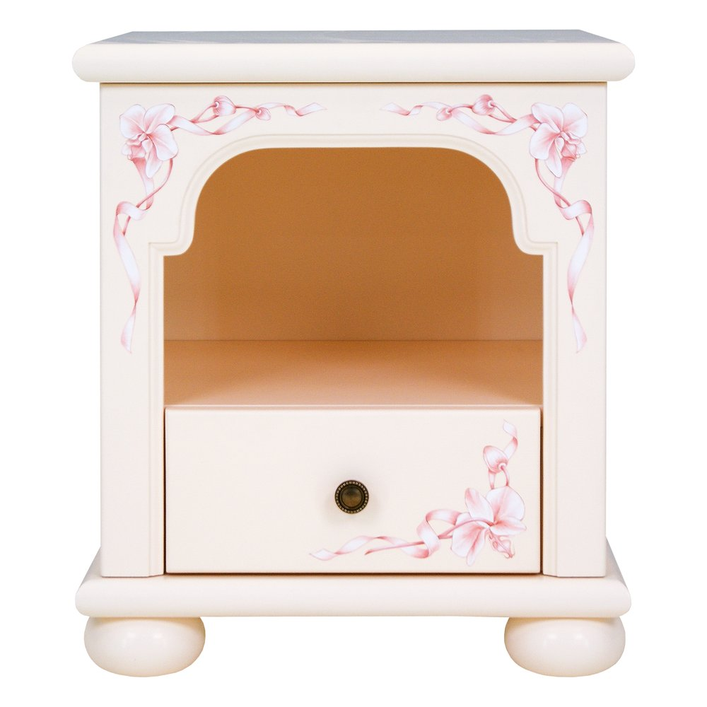 Light Pink Childrens Bedside Table | Children's Storage | Ballet Collection | Woodright Home UK