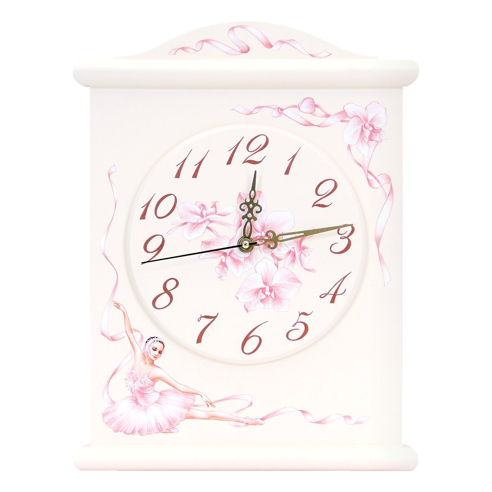 Light Pink Silent Wall Clock | Wall Clocks | Ballet Collection | Woodright Home UK