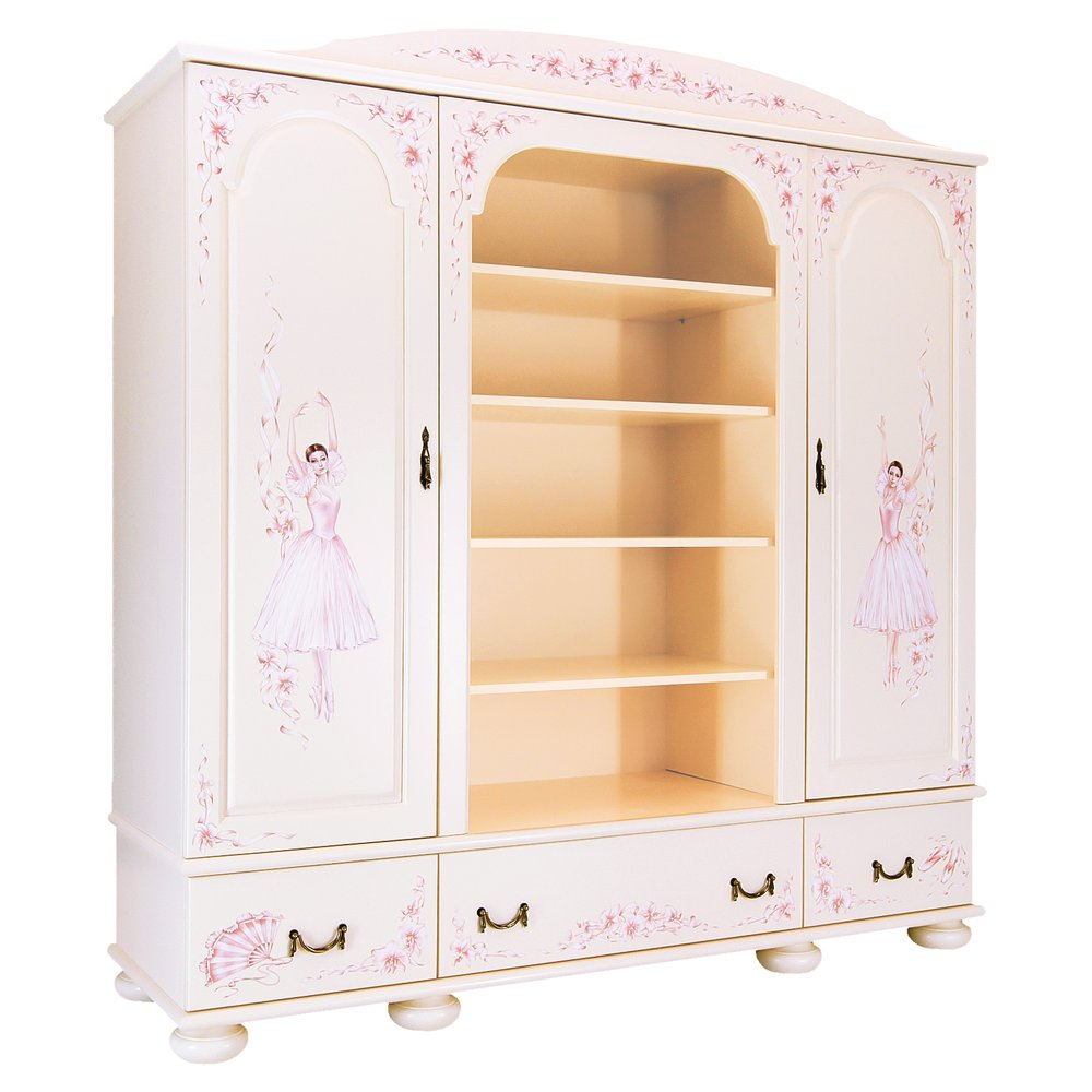 Girl's Light Pink Combi Wardrobe | Children's Wardrobes | Ballet Collection | Woodright Home UK