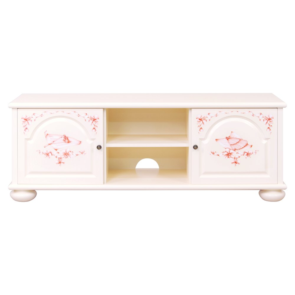 Light Pink Children's TV Stand | Children's Storage | Ballet Collection | Woodright Home UK