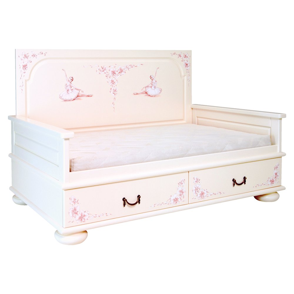 Light Pink Toddler Day Bed | Children's Beds | Ballet Collection | Woodright Home UK