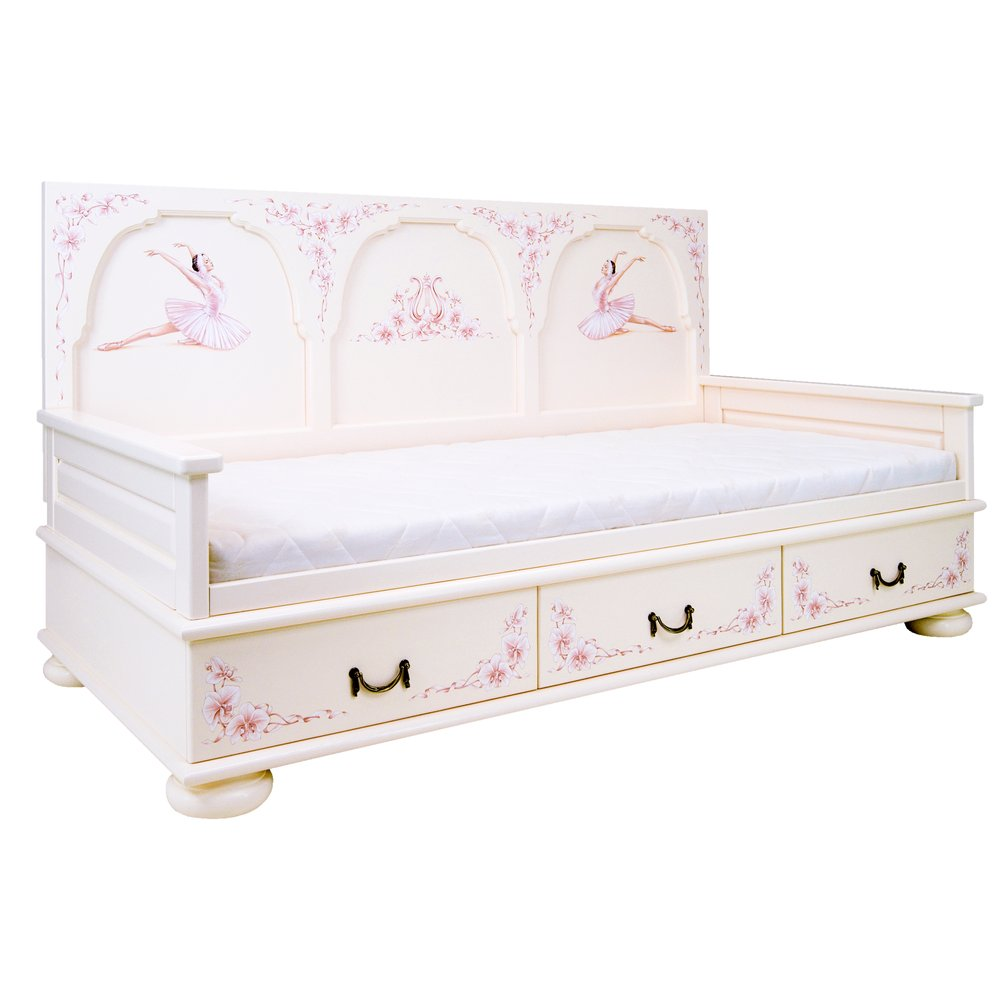Girl's Light Pink Day Bed | Children's Beds | Ballet Collection | Woodright Home UK