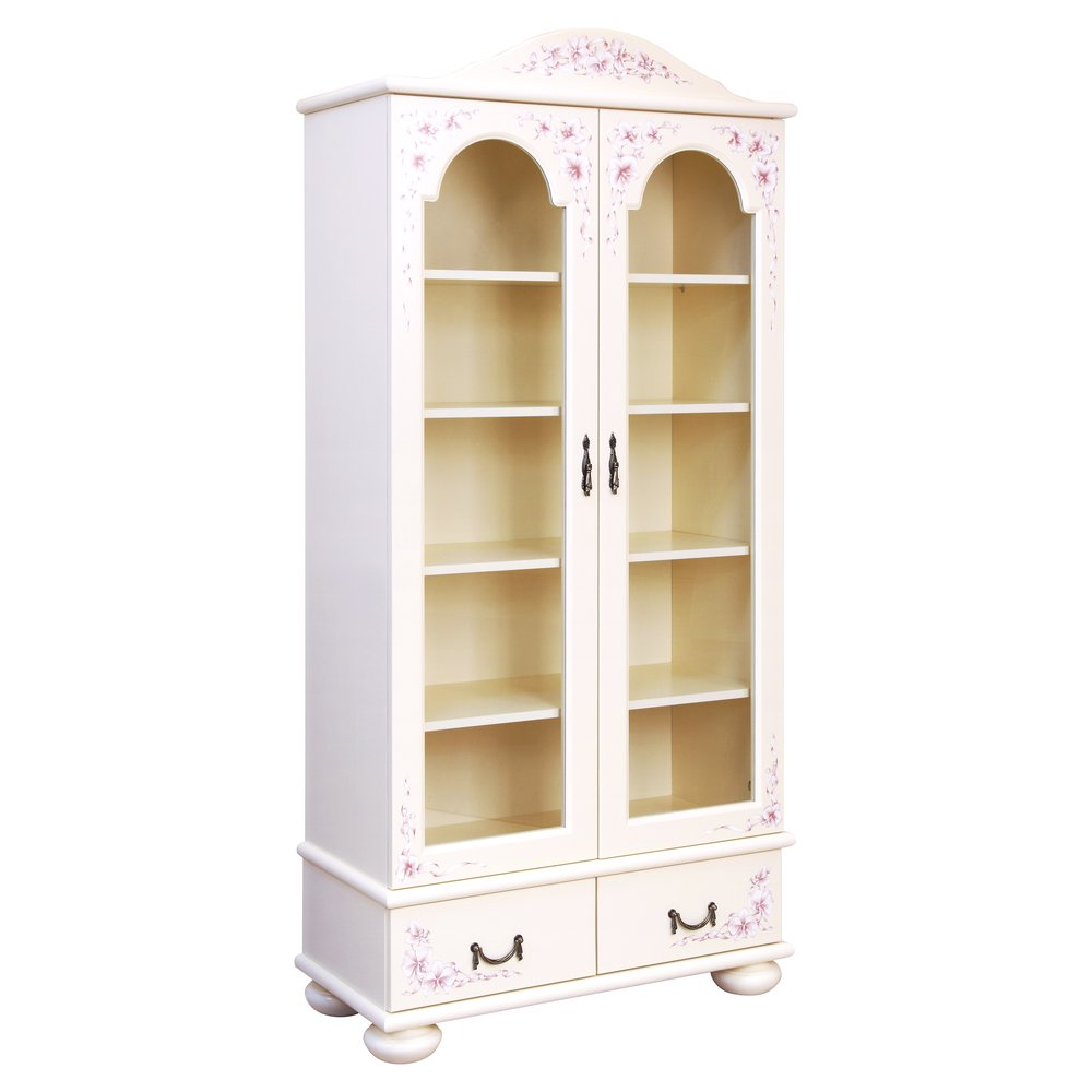 Girl's Light Pink Glazed Bookcase | Children's Storage | Ballet Collection | Woodright Home UK