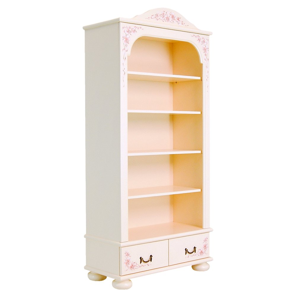 Light Pink Bookcase with Drawers | Children's Storage | Ballet Collection | Woodright Home UK