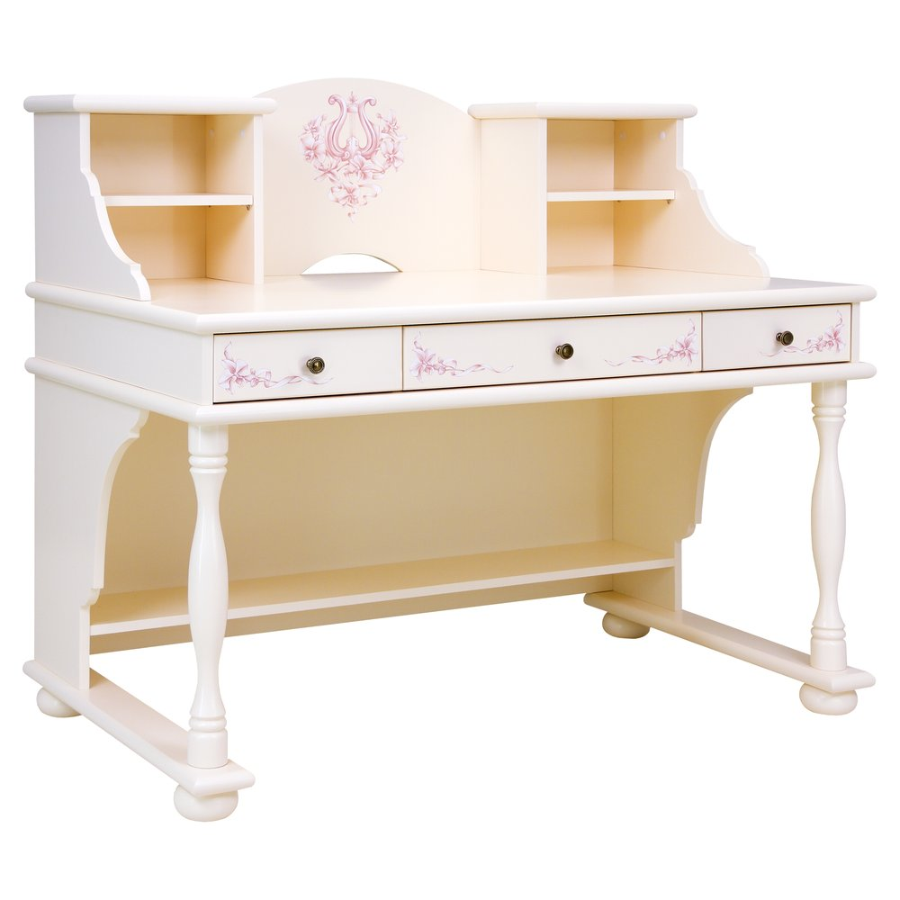 Light Pink Writing Table with Top | Children's Tables & Chairs | Ballet Collection | Woodright Home UK