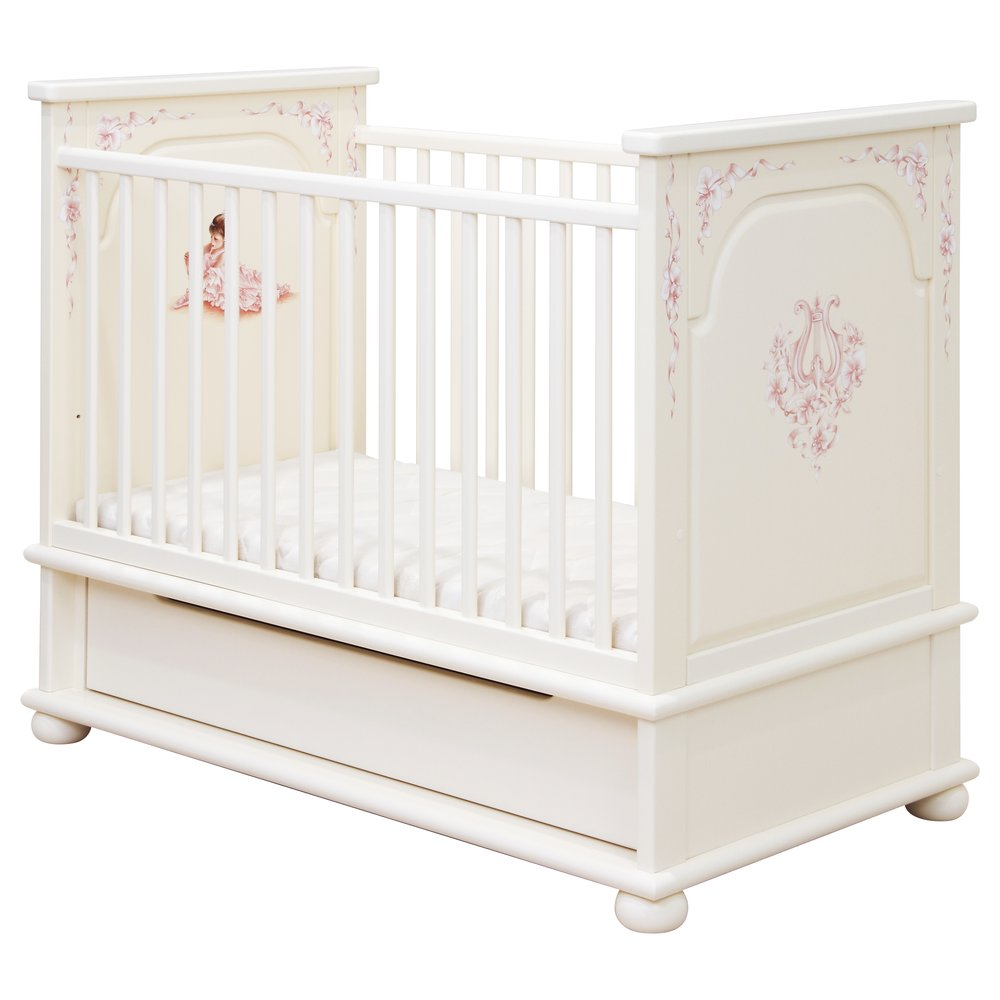 Light Pink Cot Bed | Nursery Furniture | Ballet Collection | Woodright Home UK