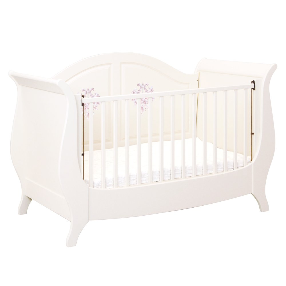 Light Pink Sleigh Cot Bed | Nursery Furniture | Ballet Collection | Woodright Home UK