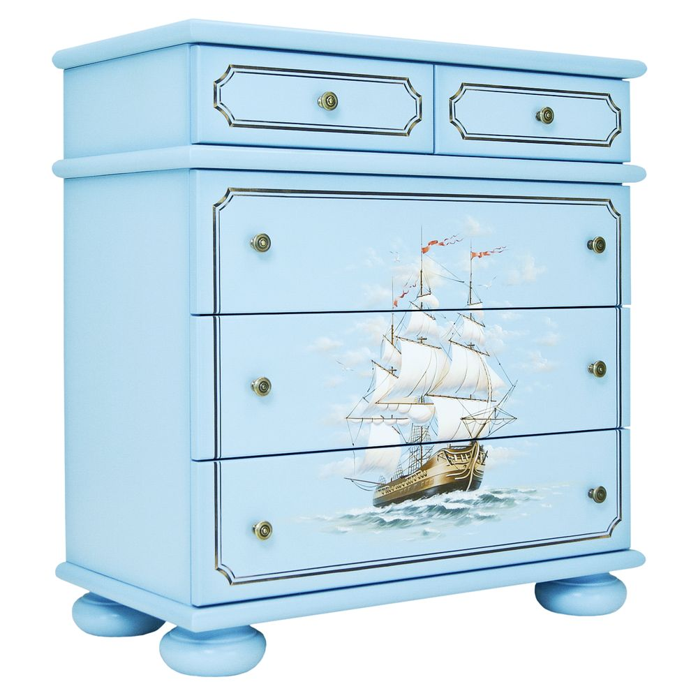 Blue Chest of Drawers | Children's Chests of Drawers | Brigantine (blue) Collection | Woodright Home UK