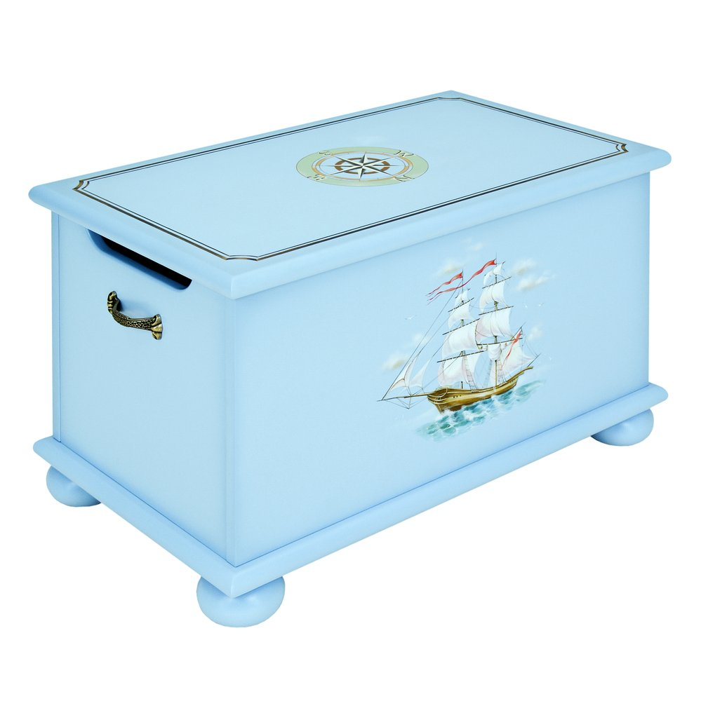 Blue Toy Box | Toy Boxes | Brigantine (blue) Collection | Woodright Home UK