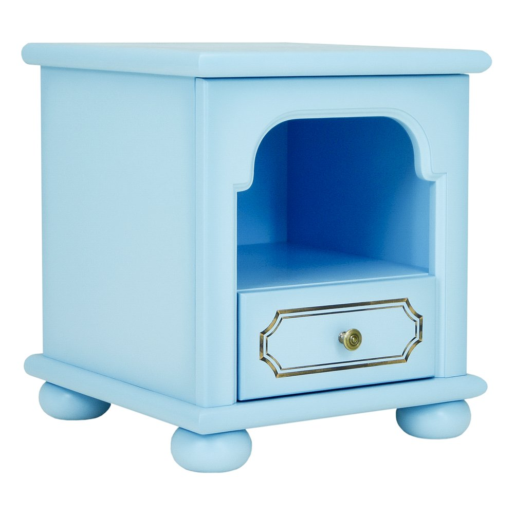 Blue Children's Bedside Table | Children's Storage | Brigantine (blue) Collection | Woodright Home UK