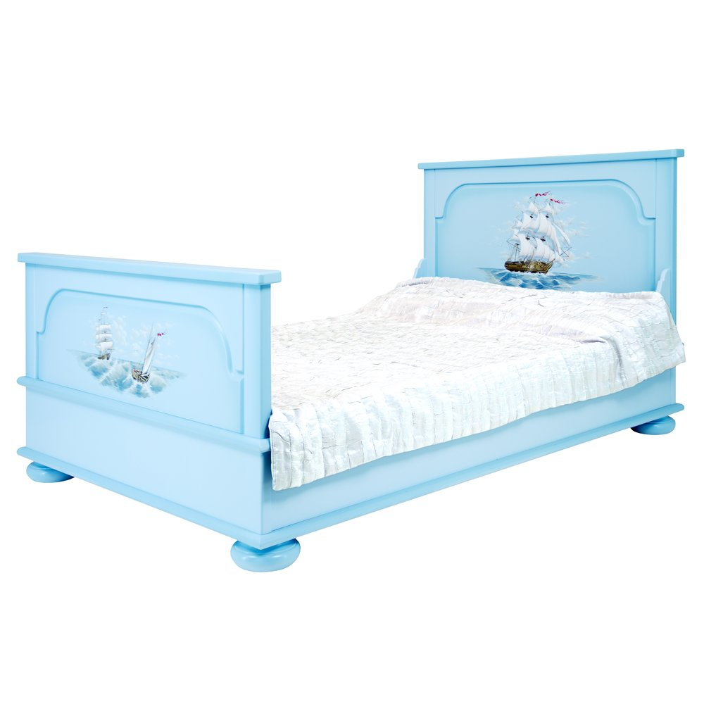 Blue Children's Small Double Bed | Children's Beds | Brigantine (blue) Collection | Woodright Home UK