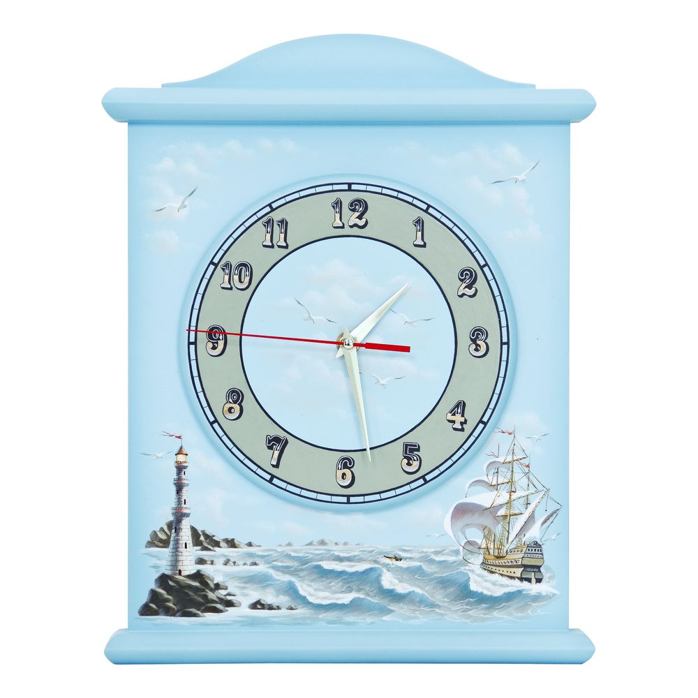 Blue Silent Wall Clock | Wall Clocks | Brigantine (blue) Collection | Woodright Home UK
