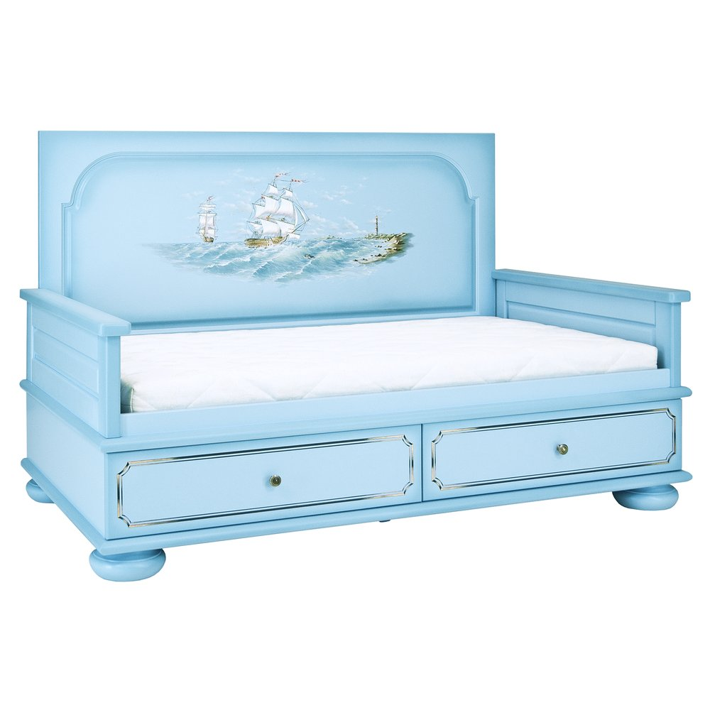 Blue Toddler Day Bed | Children's Beds | Brigantine (blue) Collection | Woodright Home UK