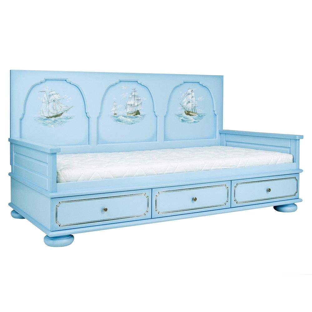 Blue Children's Day Bed   Children's Beds   Brigantine (blue) Collection   Woodright Home UK