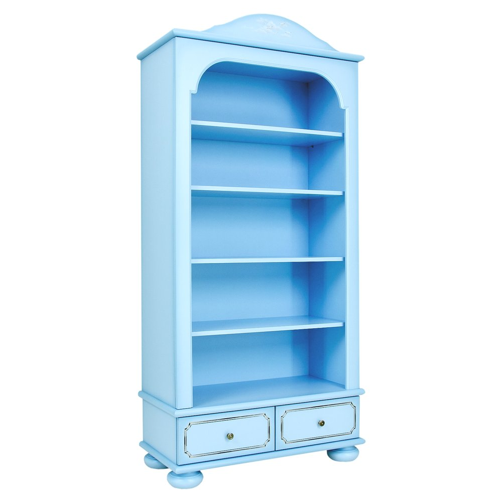 Blue Bookcase with Drawers | Children's Storage | Brigantine (blue) Collection | Woodright Home UK