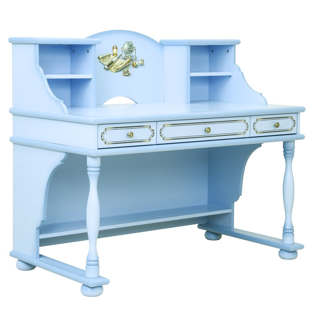 Kids Blue Writing Table with Top | Children's Tables & Chairs | Brigantine (blue) Collection | Woodright Home UK