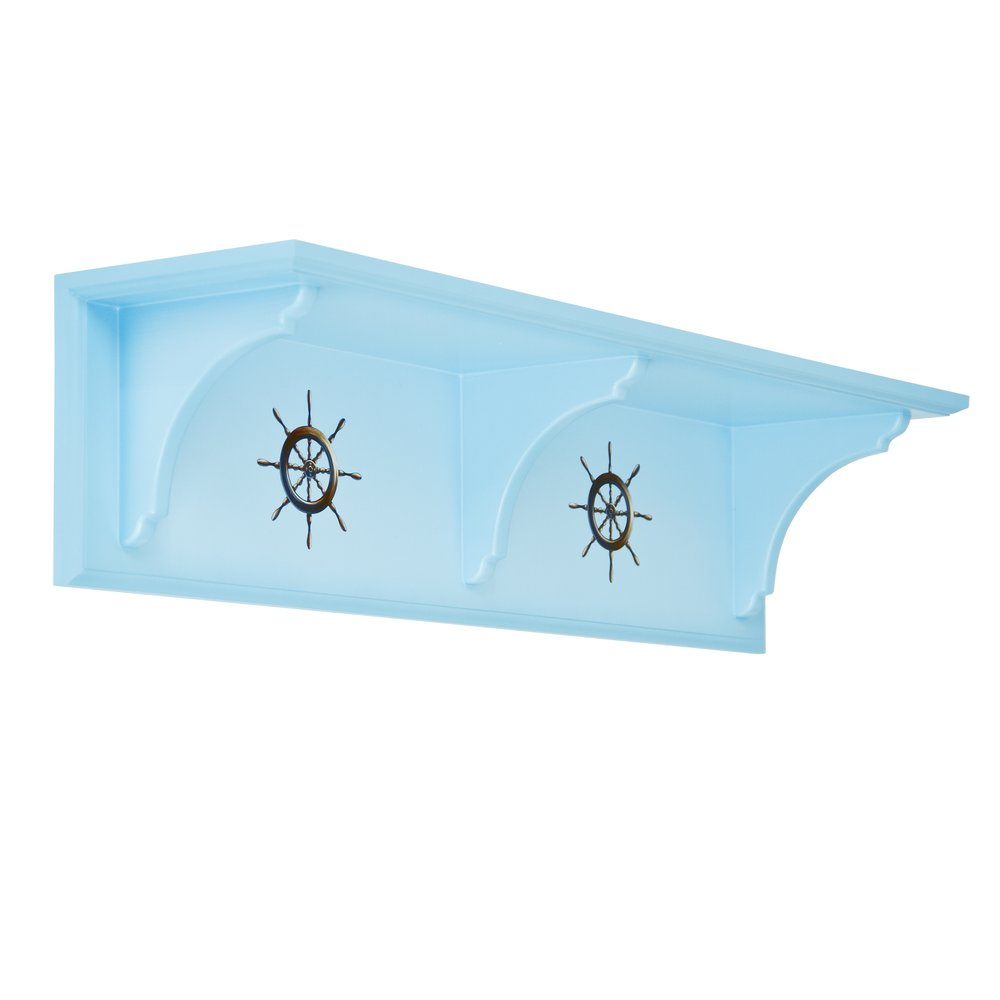 Blue Children's Wall Shelf | Children's Storage | Brigantine (blue) Collection | Woodright Home UK