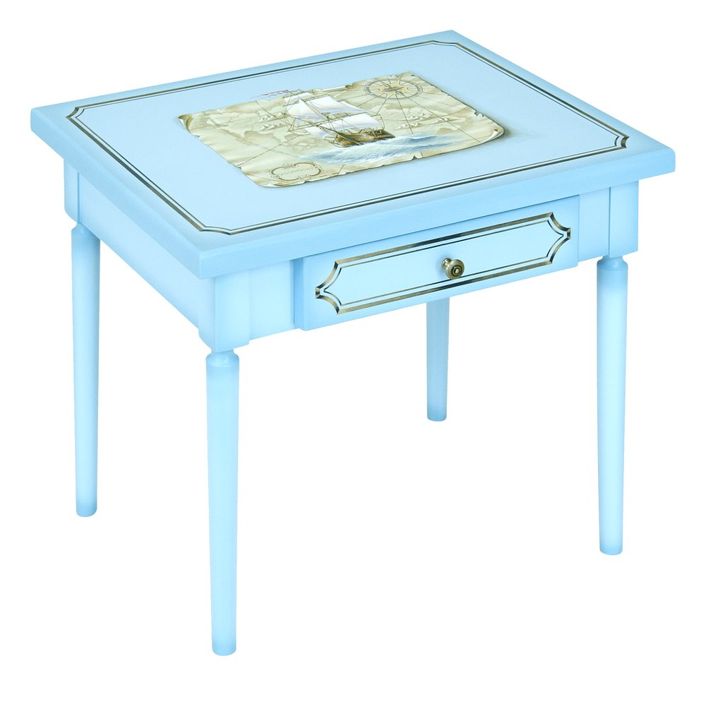 Blue Children's Table | Children's Tables & Chairs | Brigantine (blue) Collection | Woodright Home UK