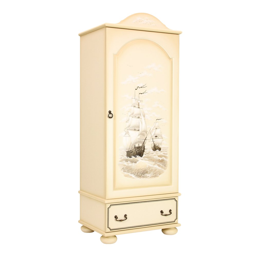 Children's Ivory Single Wardrobe - Brigantine (ivory) Collection
