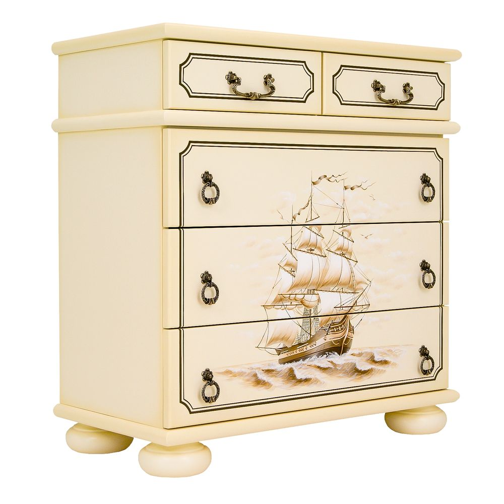 Kids Ivory Chest of Drawers - Brigantine (ivory) Collection