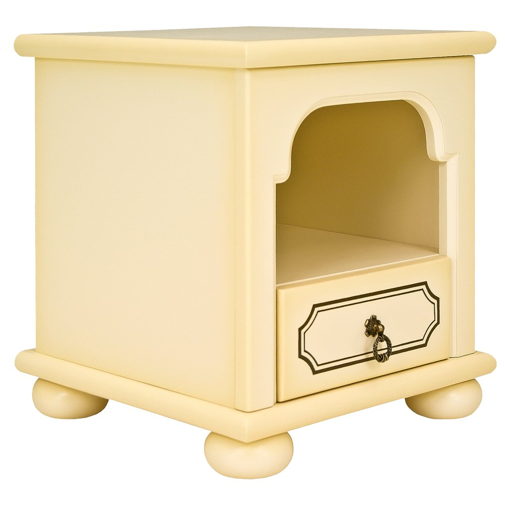 Ivory Children's Bedside Table - Brigantine (ivory) Collection