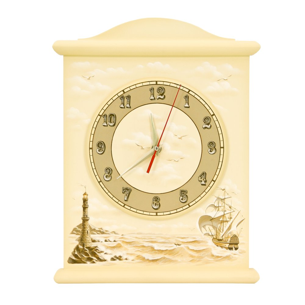 Ivory Silent Wall Clock - Brigantine (ivory) Collection