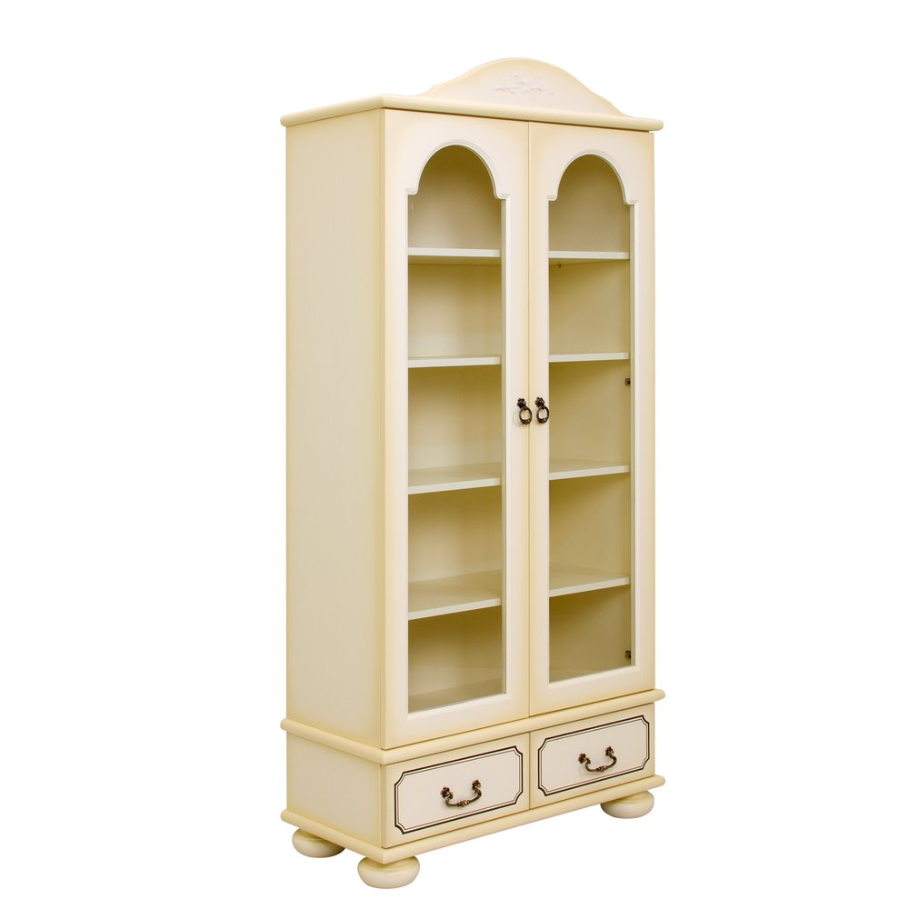 Children's Ivory Glazed Bookcase - Brigantine (ivory) Collection