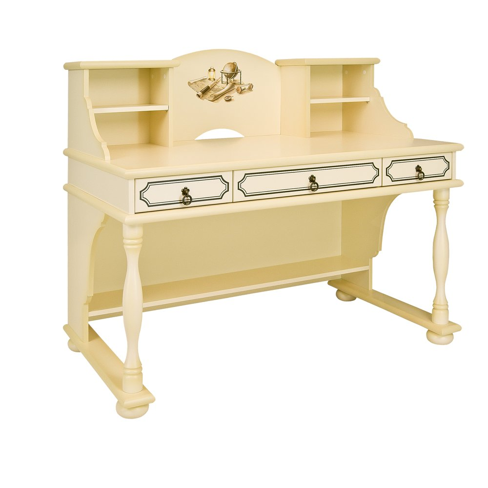 Kids Ivory Writing Table with Top - Brigantine (ivory) Collection
